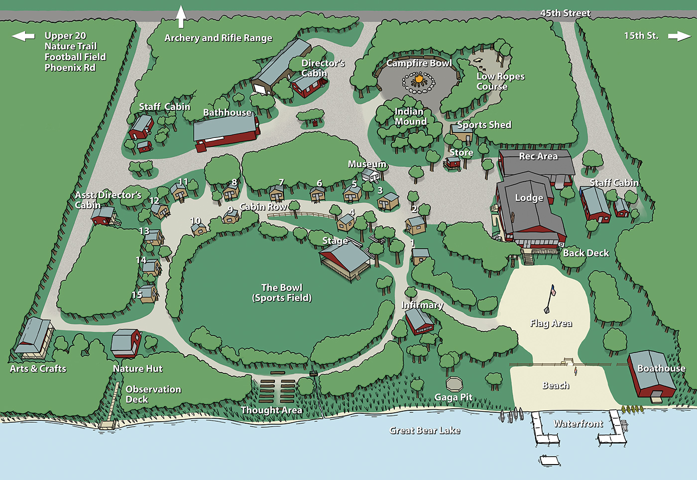 Map of Van BUren Youth Camp